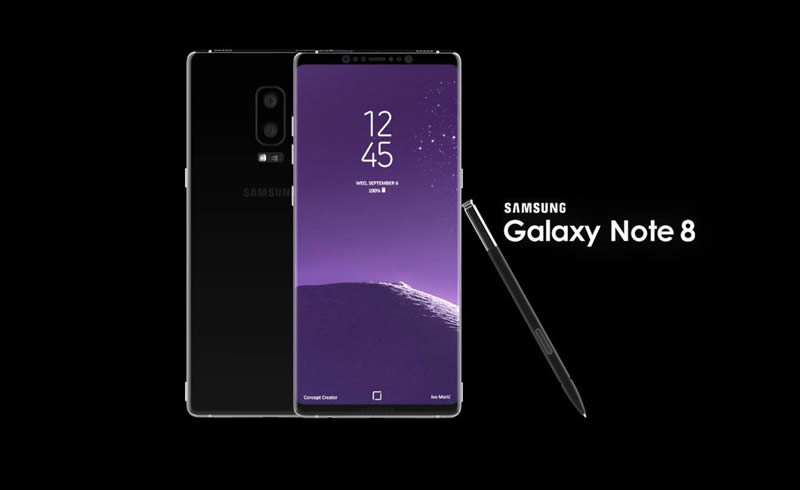 Samsung Galaxy Note 8 look