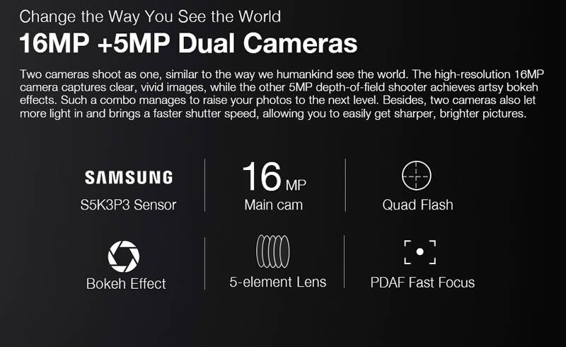 Ulefone T1 Dual Lens