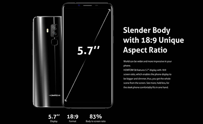 Homtom S8 front and rear
