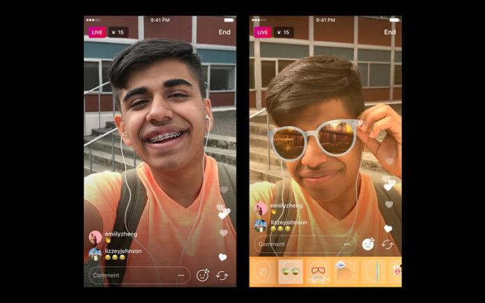 Instagram live video filter