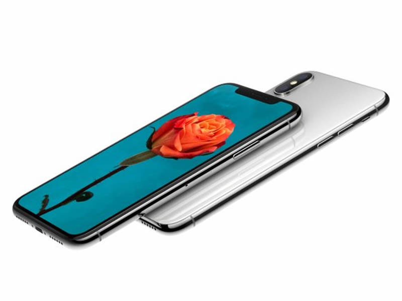 The screen of the iPhone X