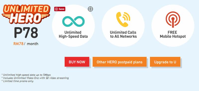 The Unlimited Hero P78 plan