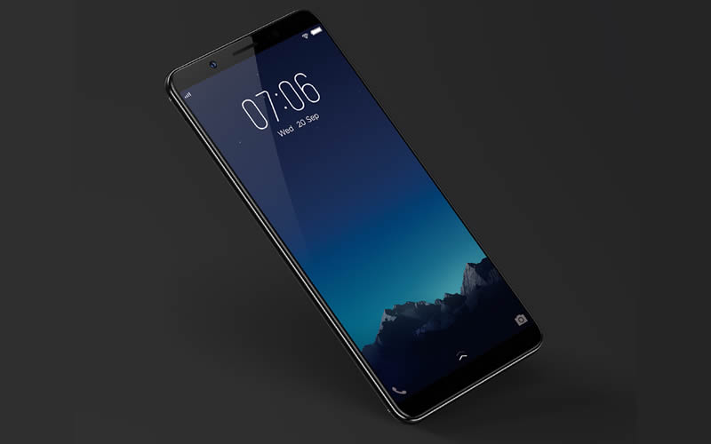 The front of the Vivo V7+