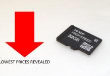 Micro SD cards at discounted rates.