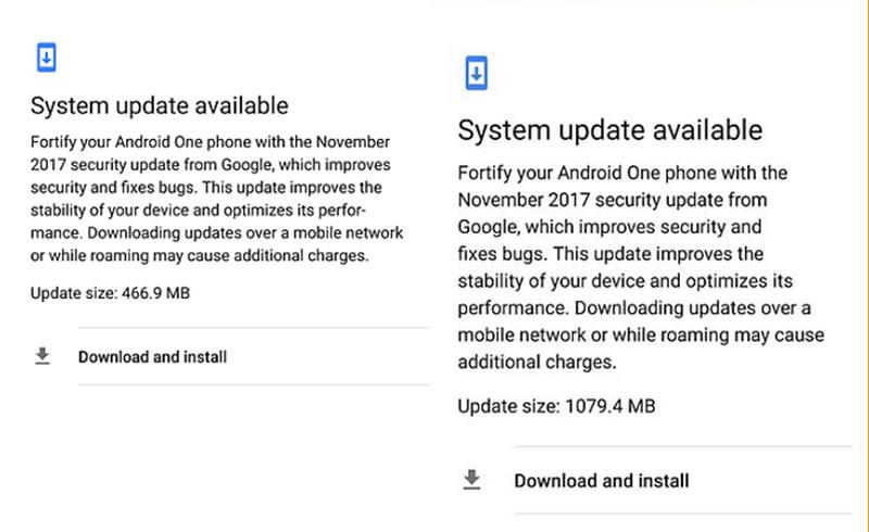Mi A1 update notification - Photo XDA