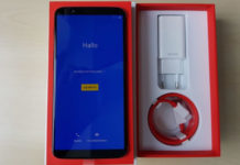 OnePlus 5T unboxed. / Photo by PhoneArena