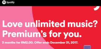 Spotify Premium 2017 promotion