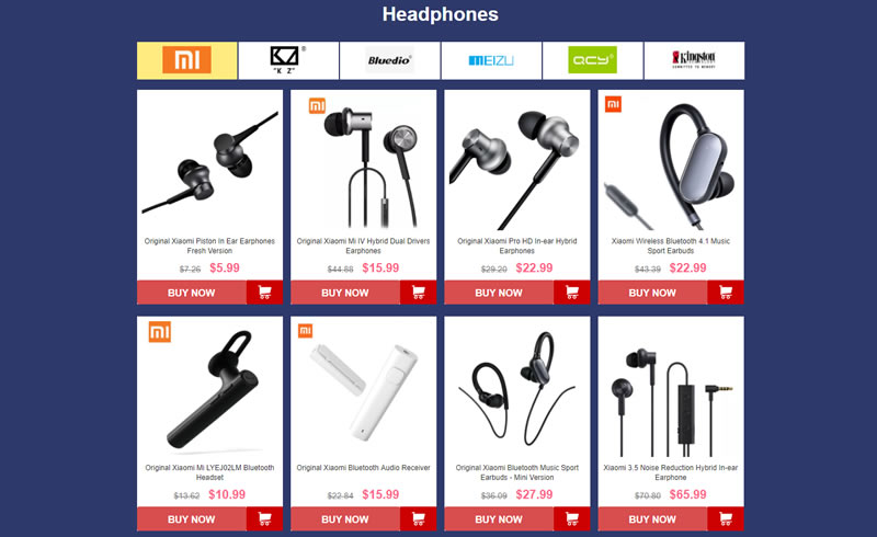 Headphone offers at GearBest