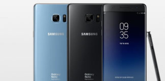 Samsung Galaxy Note FE colours