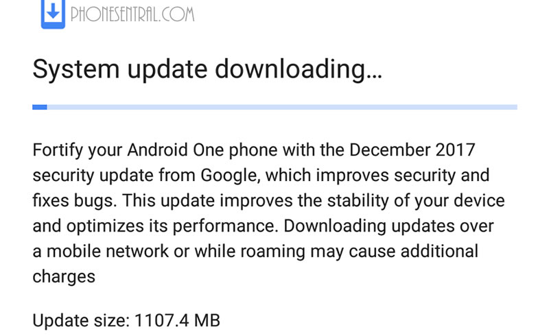 Android Oreo Update for MIA1