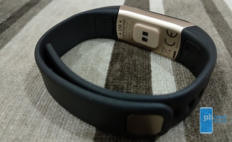Lifesense Band 2S band from the inside