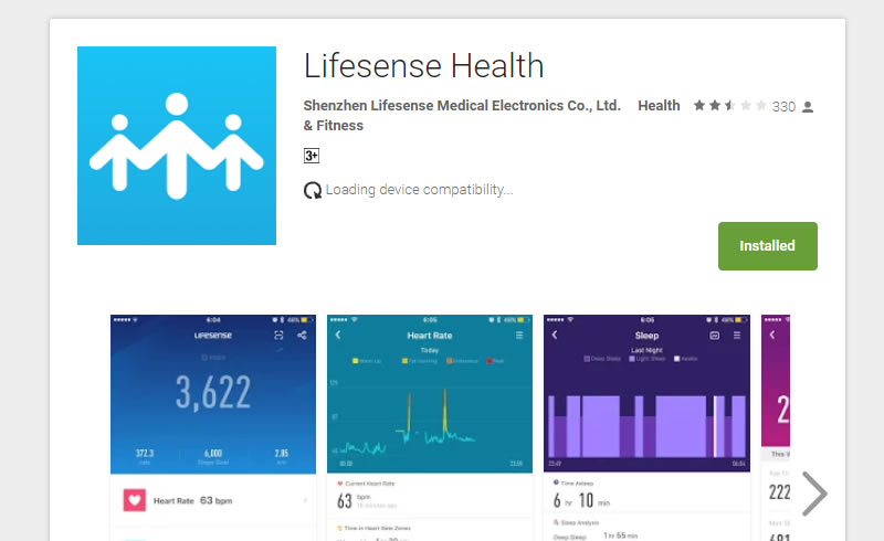 Lifesense Band 2S band health app