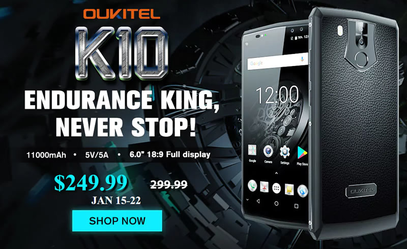 Oukitel K10, the smartphone that can stay on for 42 days