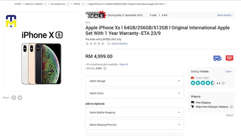 iPhone XS in Malaysia