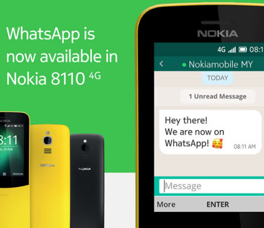 Nokia 8110 whatsapp