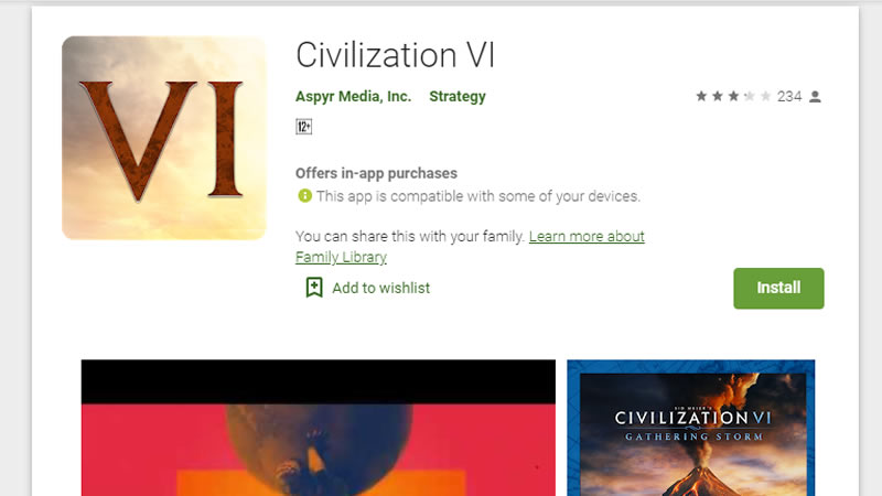 One of my favourite strategy games, Sid Meier's Civilization VI (Civ6) is now available in the Google Play Store.