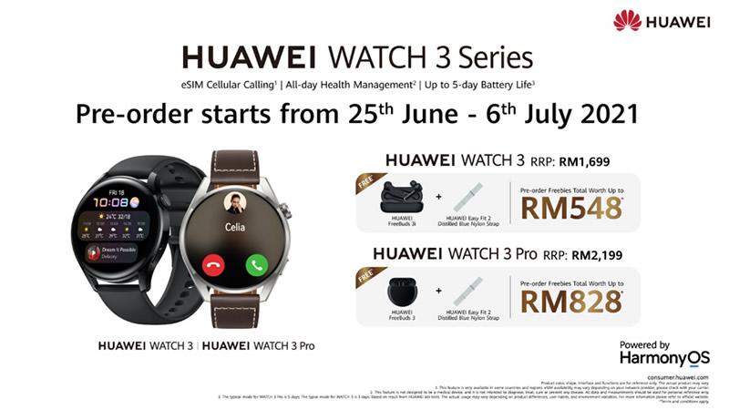 Huawei Watch 3 series malaysia promo
